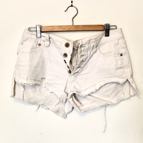 Free People Pants - Free people | white denim shorts